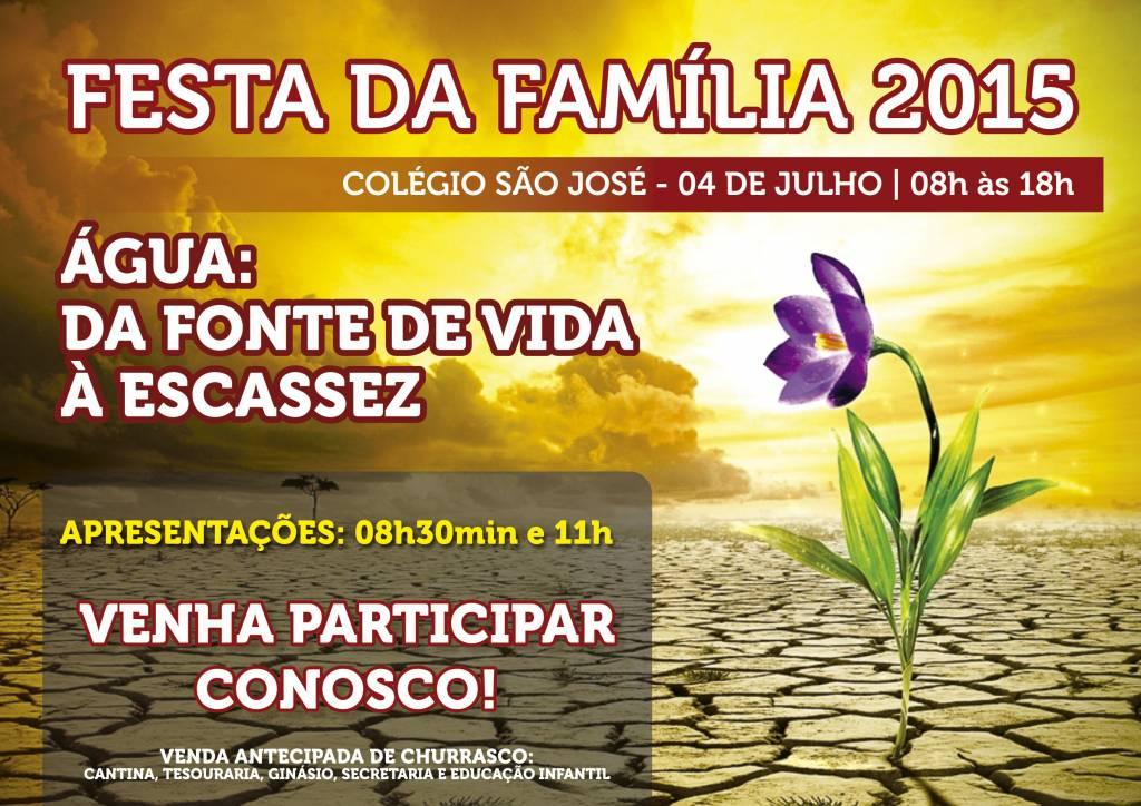 Cartaz Festa da Família 2015