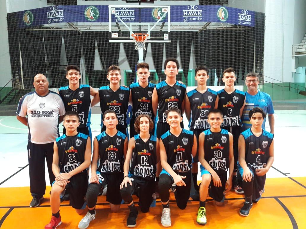 CSJ sub-15 assume liderança do grupo no estadual de basquete