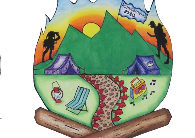 Conheça as finalistas do concurso para o logotipo do acampamento do Ensino Médio