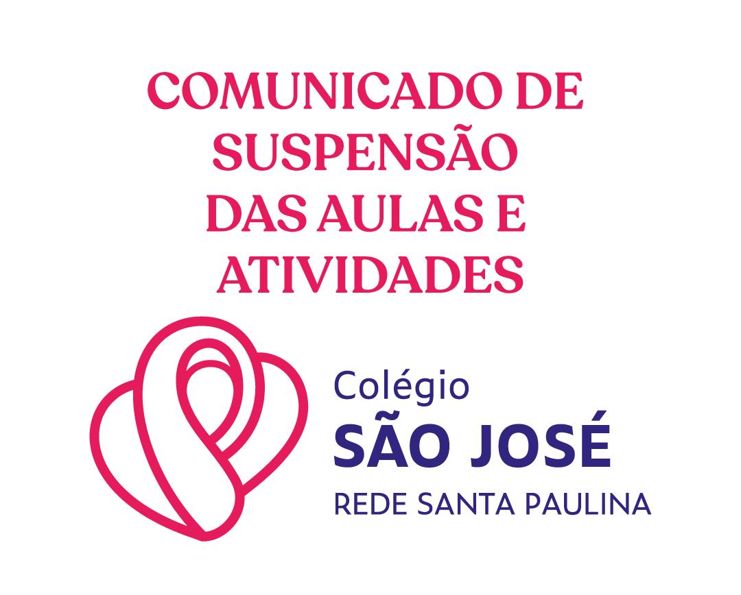 COMUNICADO DE SUSPENSÃO DAS AULAS E ATIVIDADES